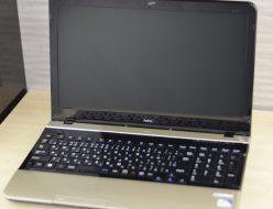 壊れたノートパソコン買取りました!NEC PC-LS150JS6G LS150/J ゴールド、中古・壊れたパソコンを高く売るならジャンク品パソコン買取ドットコム