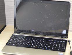 壊れたノートパソコン買取りました!NEC PC-LS450JS6G Core i5、液晶割れのノートパソコンでも高額買取いたします!