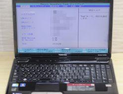 壊れたノートパソコン買取りました!東芝 PATX66LRTBL TX/66LBL Core i3
